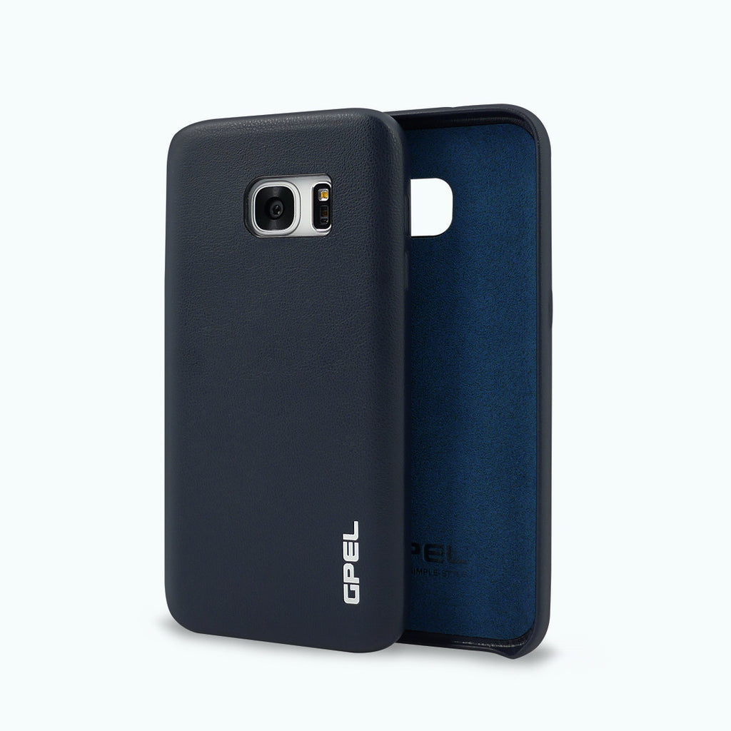 Galaxy S7 GPEL Leather™ Koskin – Navy