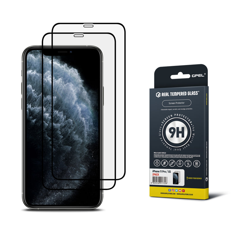 iPhone 11 Pro / XS Real Tempered Glass Screen Protector - 2 Pack