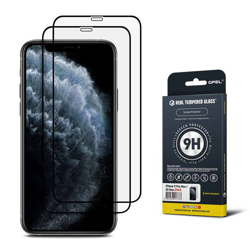 iPhone 11 Pro Max / XS Max Real Tempered Glass Screen Protector - 2 Pack