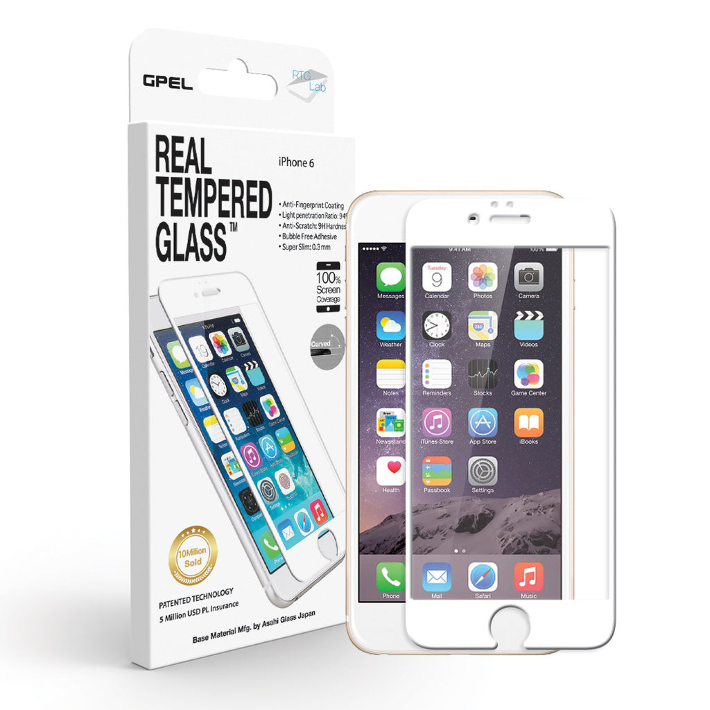 iPhone 6 | 6s Edge to Edge Screen Protector - Real Tempered Glass - GPEL  - 2