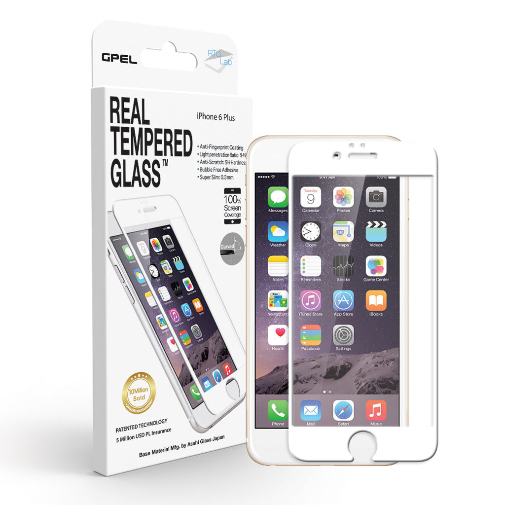 iPhone 6 | 6s Plus Edge to Edge Screen Protector - Real Tempered Glass - GPEL  - 2