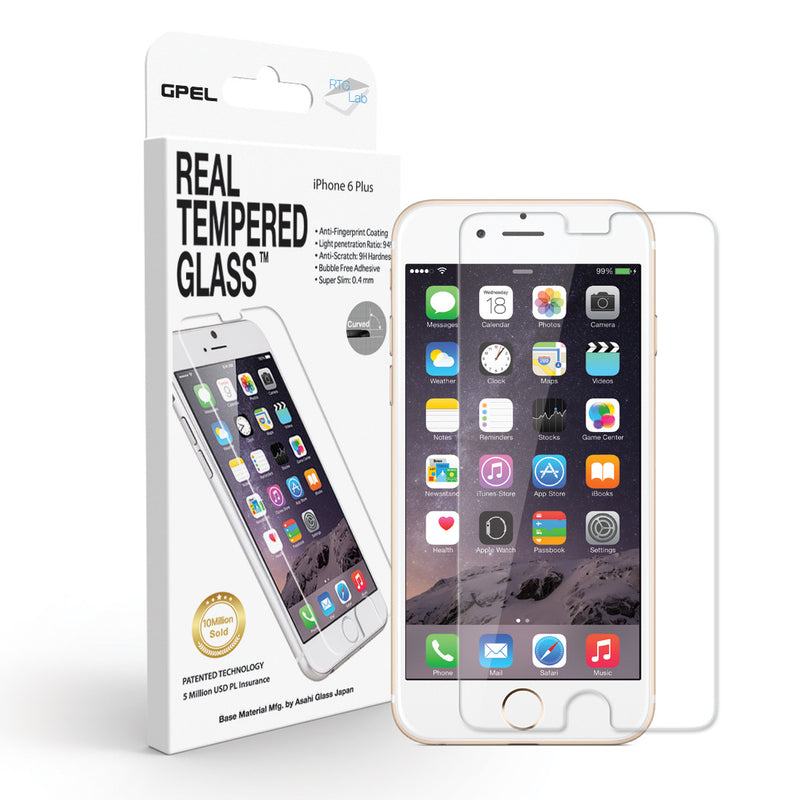 iPhone 6 | 6s Plus Screen Protector - Real Tempered Glass (Clear) - GPEL  - 1