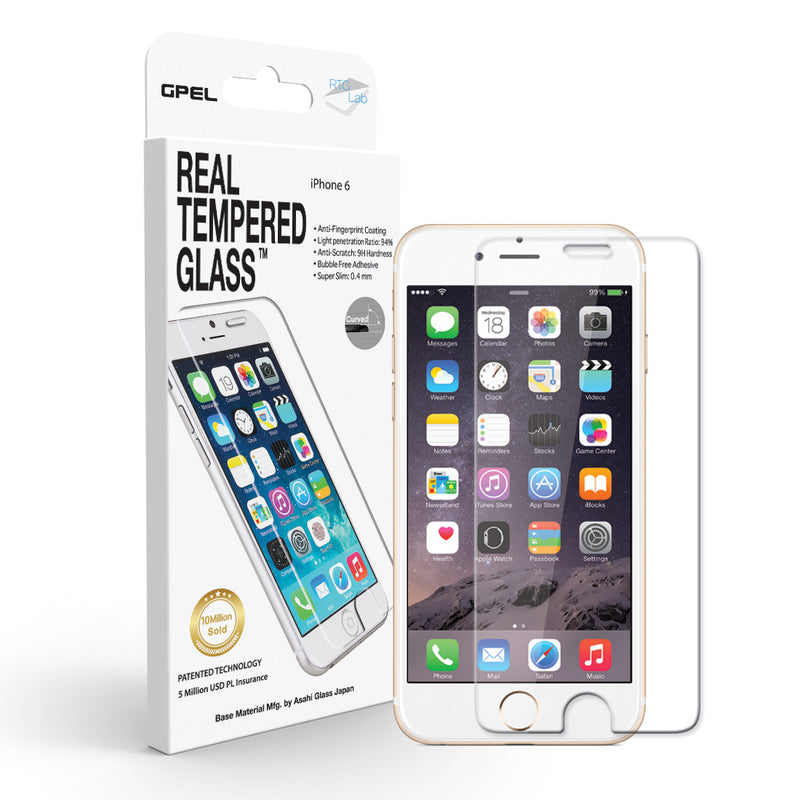 iPhone 6 | 6s Screen Protector - Real Tempered Glass (Clear) - GPEL  - 1