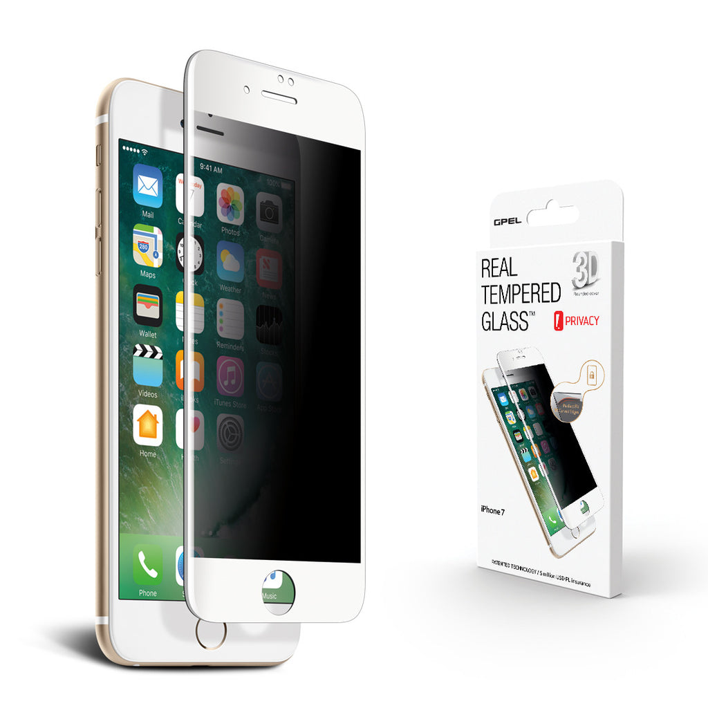 iPhone 7 Screen Protector - Privacy 3D Curved Tempered Glass