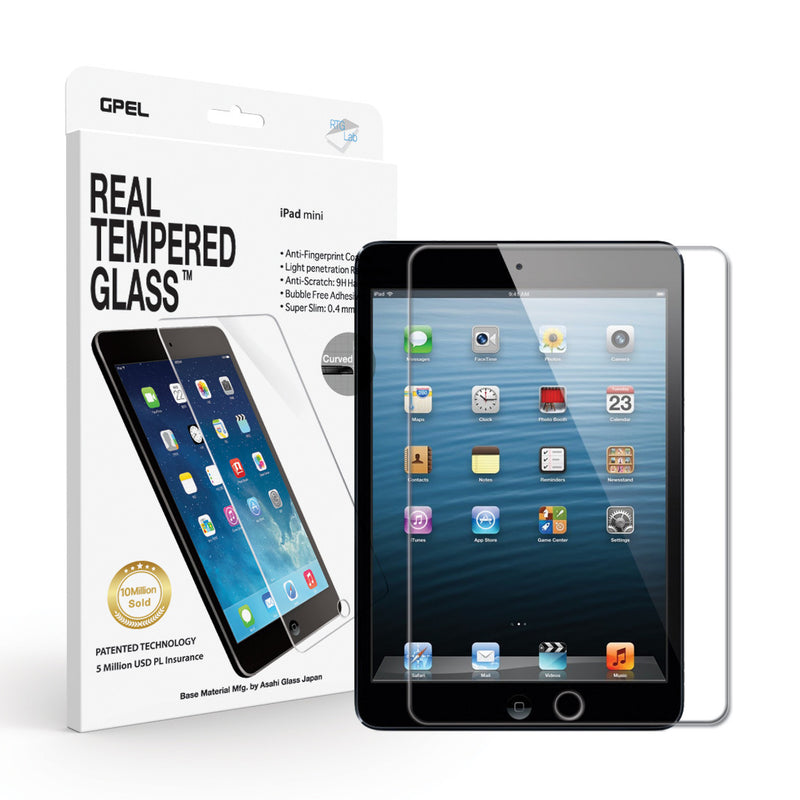iPad Mini Screen Protector - Real Tempered Glass - GPEL