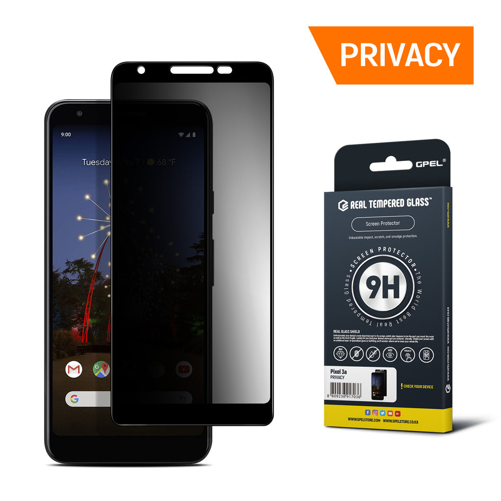 Google Pixel 3a Screen Protector Tempered Glass [Privacy]