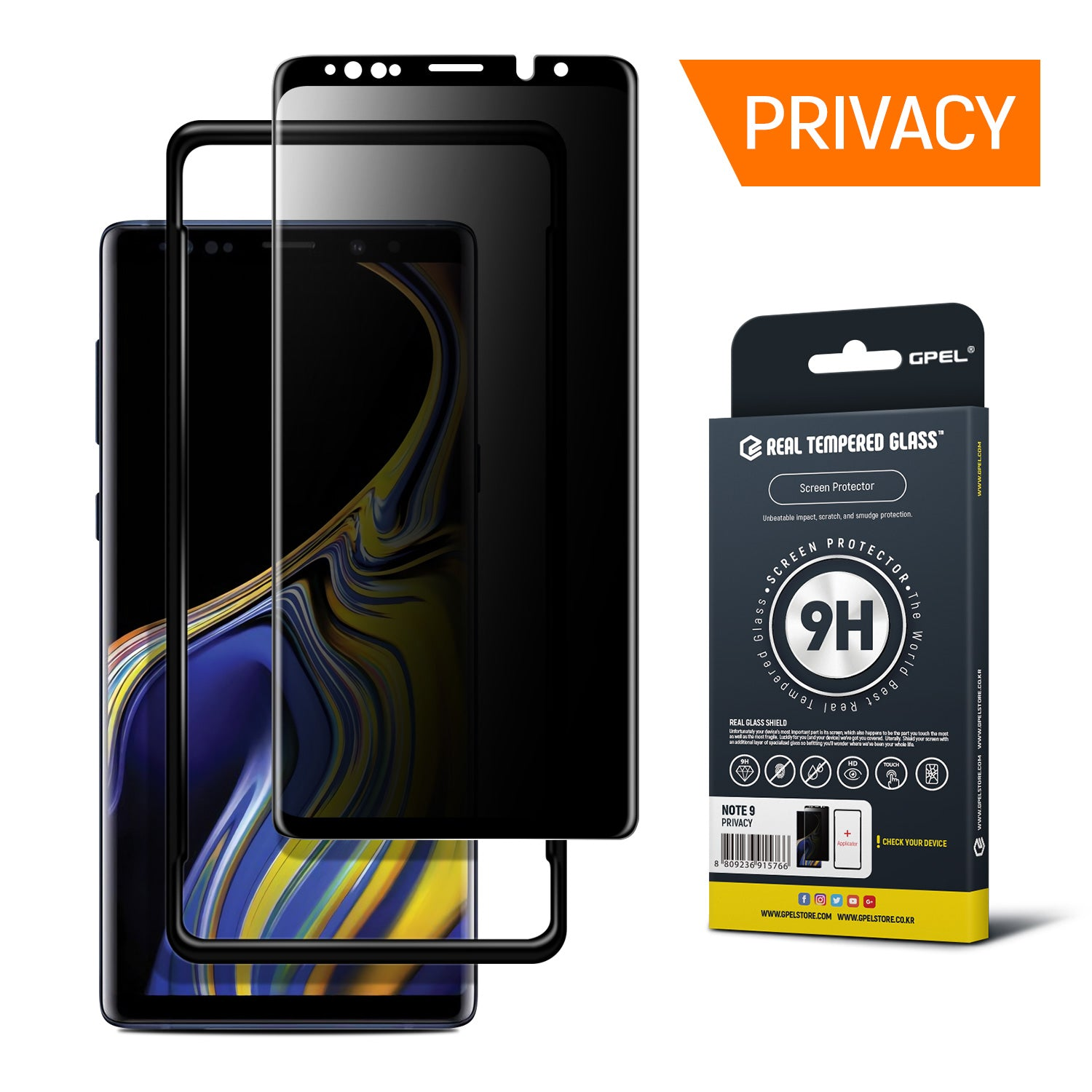 best sneakers 506fa 5701c Galaxy Note 9 Privacy Screen Protector - Real Tempered Glass