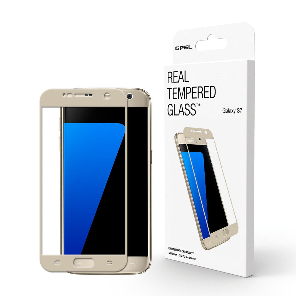 Galaxy S7 (GS7) Full Coverage Screen Protector - Real Tempered Glass