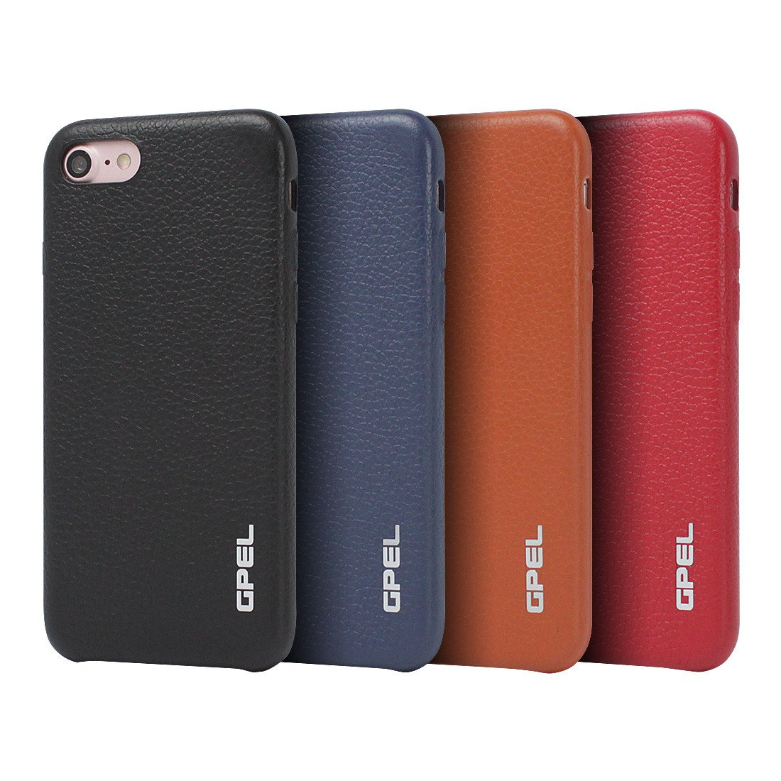 Iphone 8 Case Gpel Real Leather Black Premium Collection Of