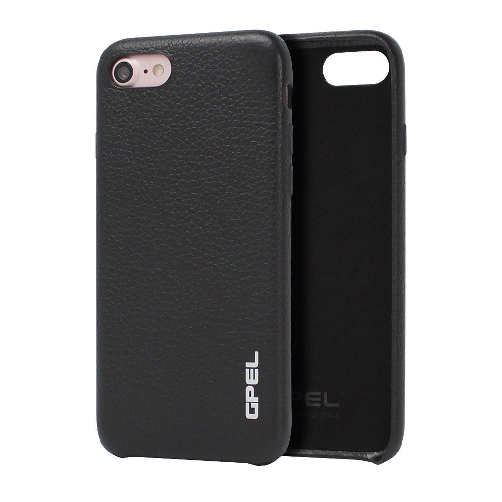 iPhone 7 Case GPEL Real Leather - Black