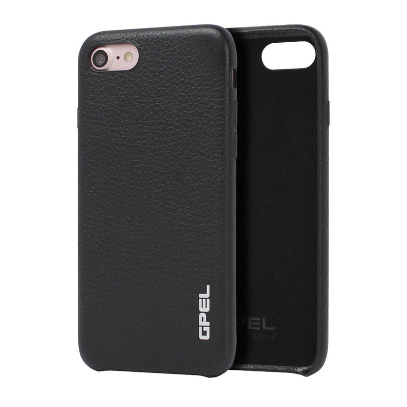 iPhone 8 Case GPEL Real Leather - Black