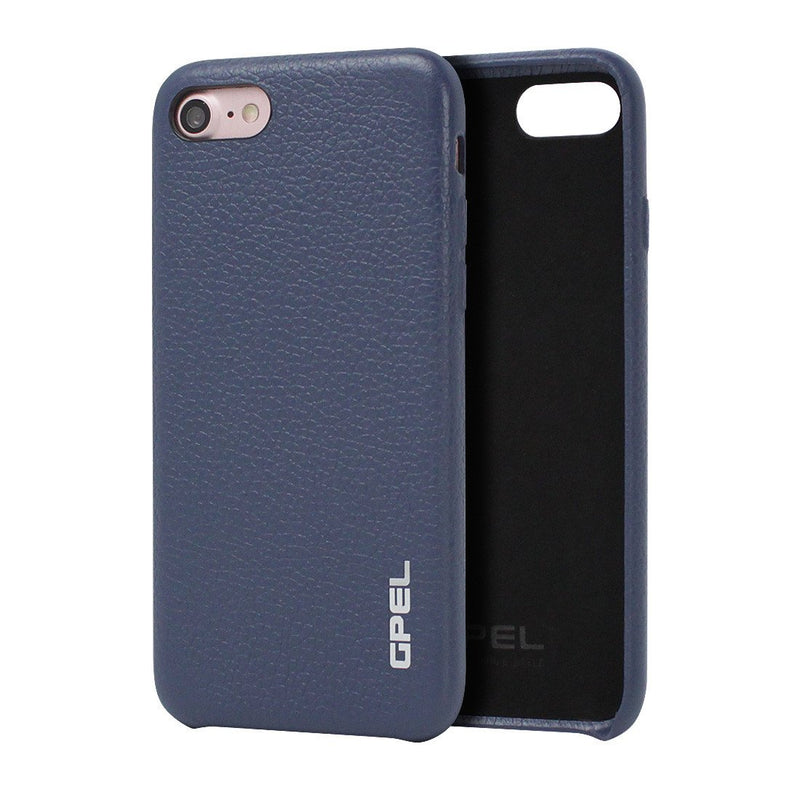 iPhone 8 Case GPEL Real Leather - Navy