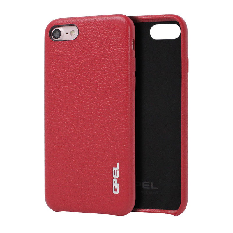 iPhone 8 Case GPEL Real Leather - Vivid Red