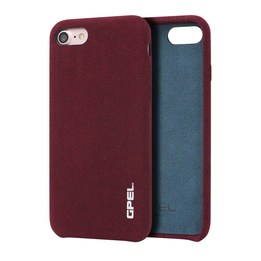 iPhone 7 GPEL Leather™ Chamois - Burgundy