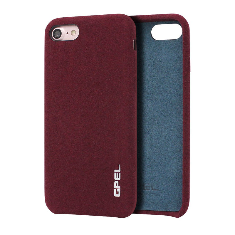 iPhone 8 GPEL Leather™ Chamois - Burgundy