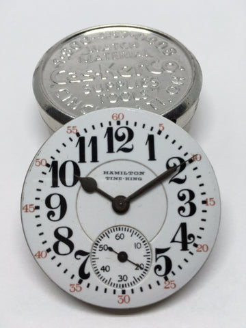 Hamilton Time King railroad watch enamel dial