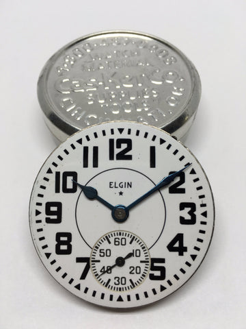 Elgin B.W. Raymond railroad watch enamel dial