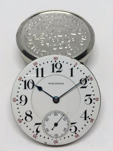 Waltham Vanguard railroad watch enamel dial