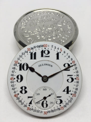 Illinois Bunn Special montgomery style railroad watch enamel dial
