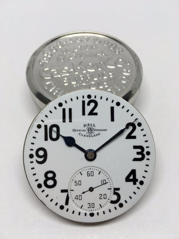 Ball 999B railroad watch enamel dial