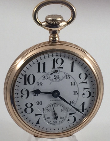 Waltham Vanguard up/down wind indicator railroad pocket watch