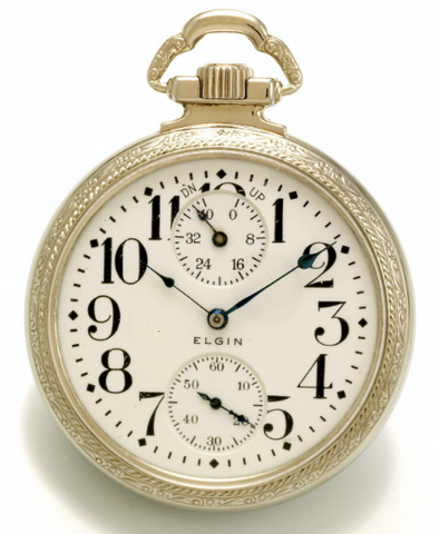 Elgin Veritas up/down wind indicator railroad pocket watch