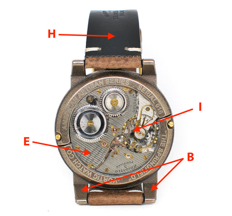 Labeled Vortic Watch Back
