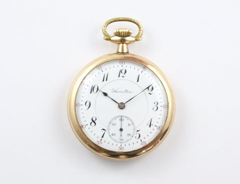16s Openface Hamilton 992P Pocket Watch