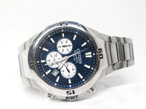 Quartz watch with chronograph complication