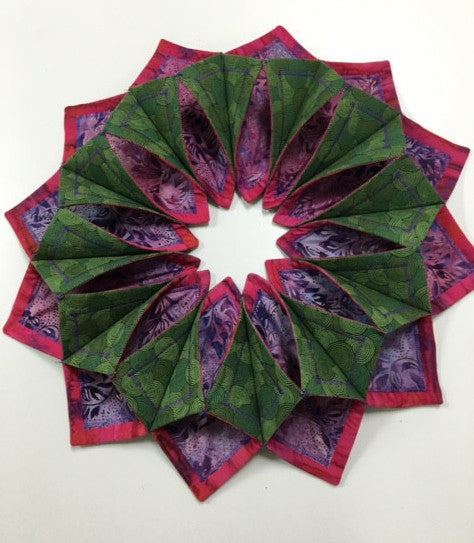 Fold and Stitch Wreath - August
