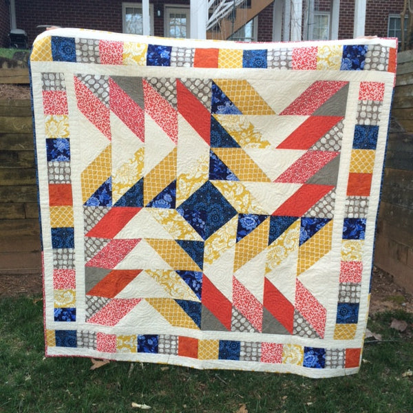 Jumbo Strip and Twist Quilt