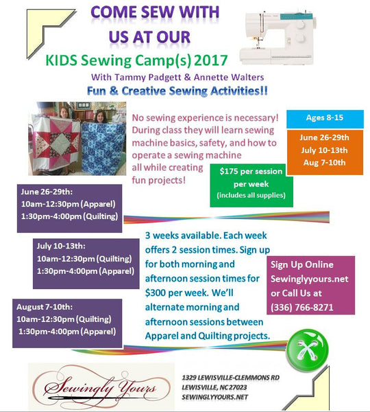 Youth Summer Sewing Camp