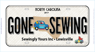 "2017 Row by Row ""On the Go"" License Plate"