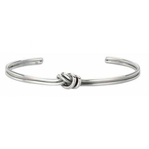 Sterling Silver Love Knot Cuff Bangle