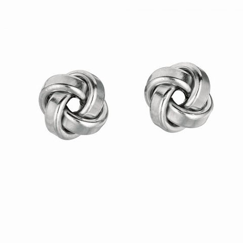 Sterling Silver Love Knot Stud