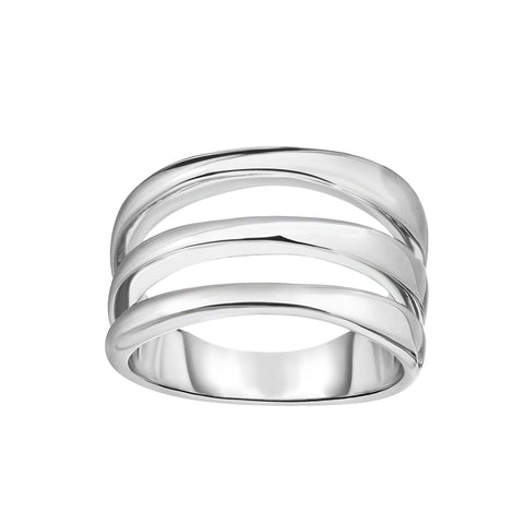 Sterling Silver 3 Row Ring