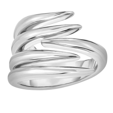 Sterling Silver Graduated Vine Ring