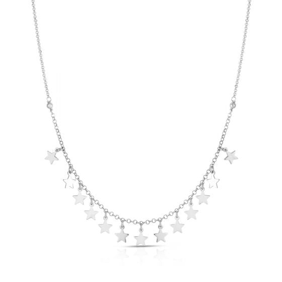 Sterling Sliver Star Charm Necklace