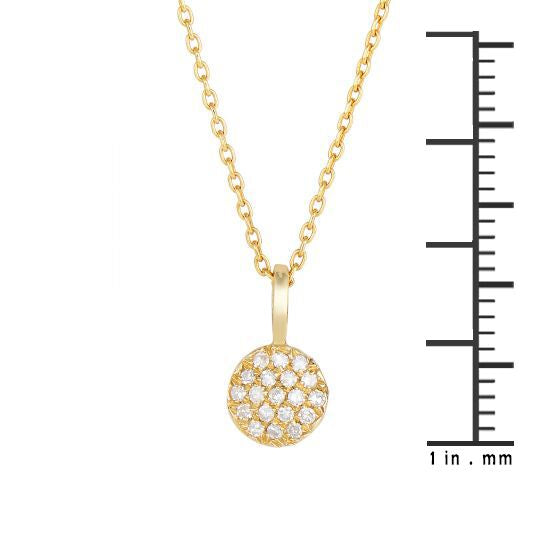 14K Gold 0.10 Ct. Diamond Delicate Mini Pendant