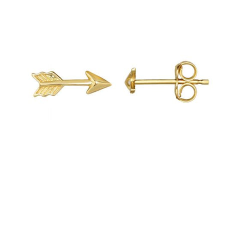 14K Gold Flying Love Arrow Delicate Post Earring