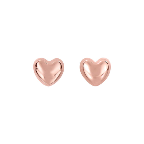 14K Gold Delicate Love Heart Stud Earring