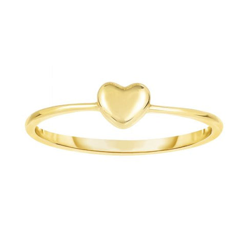 14K Gold Delicate Raised Love Heart Ring