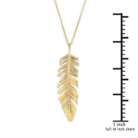 14k gold dangling feather pendant necklace maggie richmond 14k gold dangling feather pendant necklace aloadofball Gallery