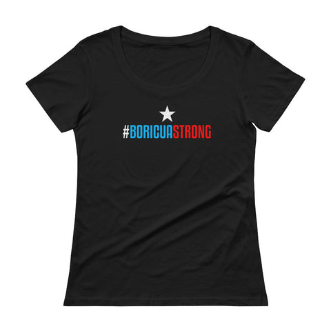 Boricua Strong | Ladies' Scoopneck T-Shirt