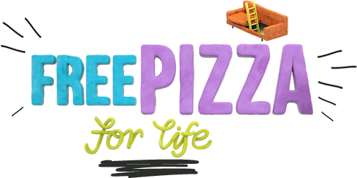 Free pizza for life logo