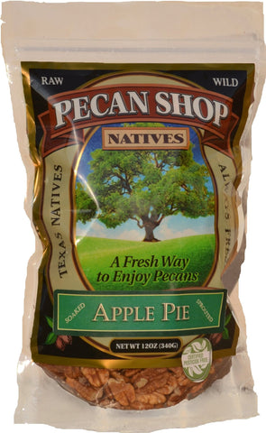 Texas Native Pecan Halves - Sprouted Apple and Wildflower Honey