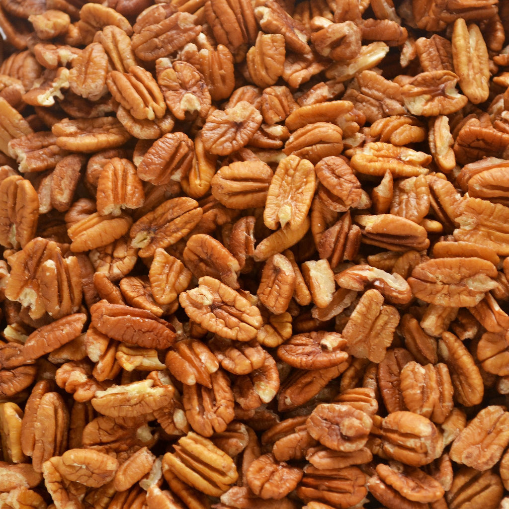 fresh shelled texas native pecan halves certified pesticide free