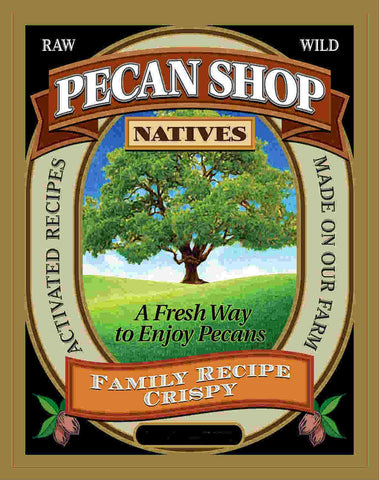 Texas Native Pecan Soaked Raw Wild Certified Pesticide Free Sea Salt