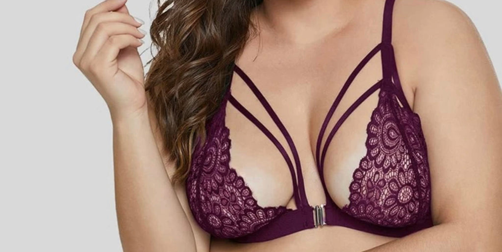 SUSTYLE PLUS SIZE BRALLETTE GRAPE