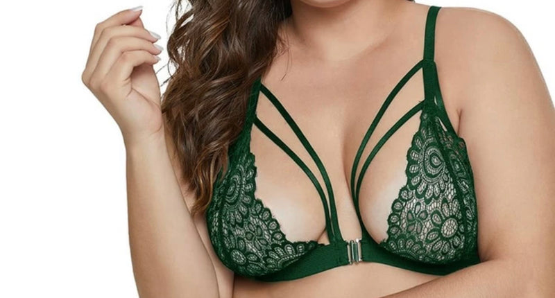 SUSTYLE PLUS SIZE BRALLETTE GREEN